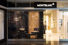 Magasin de Montblanc dans l'aéroport de Munich Photo stock