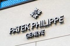 Magasin de montres de Patek Philippe photographie stock