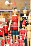 Magasin de Pinocchio à Rome, Italie images stock