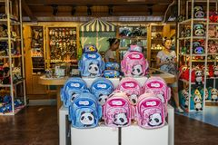 Magasin de sac à Chengdu, Chine photos libres de droits