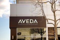 Magasin de soins de la peau d'Aveda photos stock
