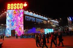 Magasin de souvenir XXII aux Jeux Olympiques Sotchi d'hiver Image libre de droits