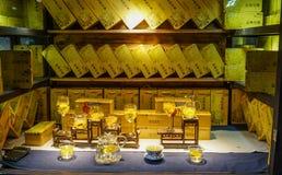Magasin de thé à la vieille ville à Chengdu, Chine photo stock
