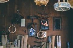 Magasin de tissage en bois Image stock