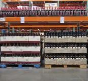 Magasin de vins et de spiritueux Image stock