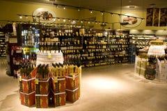 Magasin de vins et de spiritueux d'alcool Photos stock
