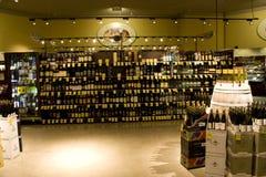 Magasin de vins et de spiritueux d'alcool Photos libres de droits