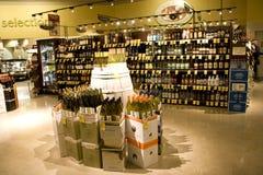 Magasin de vins et de spiritueux d'alcool Photo libre de droits