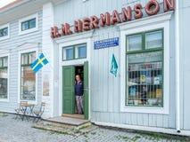 Magasin de vintage dans Haparanda, Suède photo libre de droits