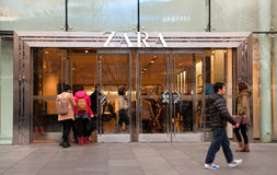 Magasin de Zara dans Pékin Photo libre de droits