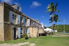 Magasin des Antilles, des Caraïbe, de l'Antigua, de chantier de construction navale du Nelson, de l'en cuivre et du bois de charp Photo libre de droits