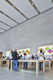 Magasin emblématique Changhaï, Chine d'Apple Photos libres de droits