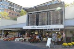 Magasin emblématique du marché de Whole Foods dans Austin du centre Images libres de droits