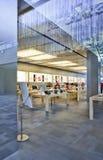 Magasin emblématique intérieur d'Apple, Pékin, Chine Image libre de droits