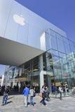 Magasin emblématique intérieur d'Apple, Pékin, Chine Image stock