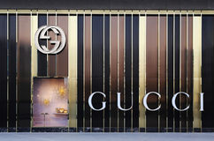 Magasin emblématique de GUCCI Photo stock