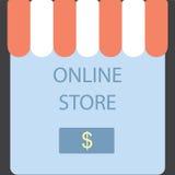 Magasin en ligne Achat de bouton d'écran Image stock