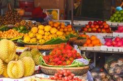 Magasin exotique de fruit Photo stock