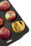 magasin för äpplemuffinred Arkivbilder
