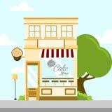 Magasin Front Building Background Illustration de boutique de gâteau Illustration Stock