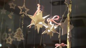 Magasin Front Decoration de Noël banque de vidéos