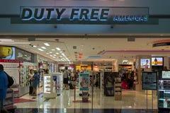 Magasin hors taxe des Amériques à l'aéroport international de Miami Photographie stock libre de droits