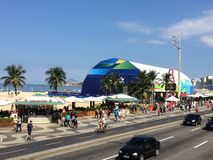 Magasin méga Rio 2016 Photos libres de droits