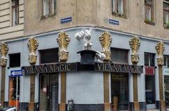 Magasin magique de Vienne à la rue de viennas images stock