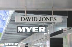 Magasin Melbourne Australie de David Jones Myer Department photographie stock