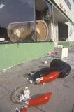 Magasin pillé pendant 1992 émeutes, Los Angeles centrale du sud, la Californie Images stock