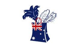 Magasin superbe de plume épousseté par Australien illustration stock