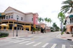 Magasins de détail et restaurants, FL photographie stock libre de droits