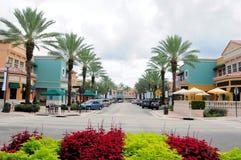 Magasins de détail et restaurants, FL photographie stock