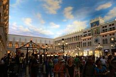 Magasins de Grand Canal à l'hôtel vénitien Las Vegas Image libre de droits