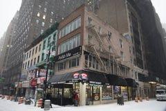 Magasins et barres de NYC photographie stock libre de droits