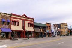 Magasins sur la rue principale Rochester Michigan photo stock