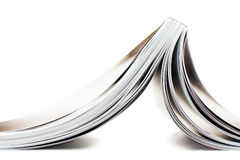 Magazine. Selective focus image of magazine in profile Royalty Free Stock Photos