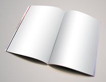 Magazine. Blank-page magazine image to use for your designs royalty free stock photo