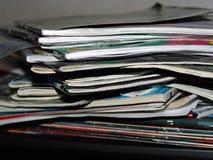 Magazine. A stack of magazines Royalty Free Stock Photo