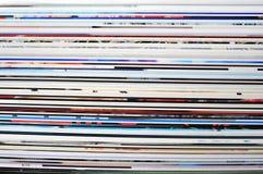 Magazine. Rolled magazine. Horizontal pages background Royalty Free Stock Images