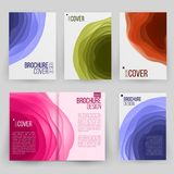 Magazine Annual Report Design Vector. Cover Presentation. Ilustration Royalty Free Stock Images