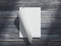Magazine avec des feuilles de papier blanc rendu 3d Image libre de droits