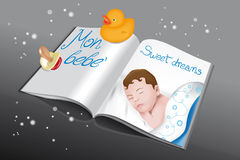 Magazine for babies-boy Stock Photo