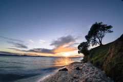 Magazine Bay on Maraetai Coast Road Royalty Free Stock Photos
