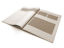 Magazine blank page for design layout. A 3d illustration of a Magazine blank page for design layout illustration Stock Images