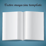 Magazine blank page template. Vector illustration. Royalty Free Stock Image