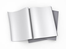 Magazine blank page template Stock Photo