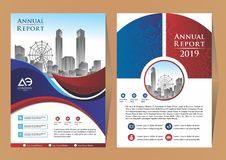 Flyer Layout, Poster, Magazine, Annual Report, Book, Booklet with Building Image. Magazine catalog for annual report cover brochure flyer for business vector illustration