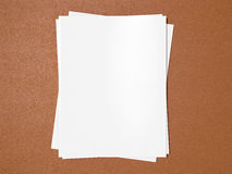 Magazine cover with blank white page mockup on leather substrate. High resolution Royalty Free Stock Photos