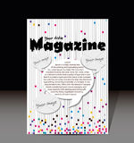 Magazine cover design Stock Photo